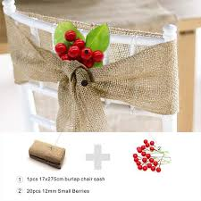 burlap chair sashes online shop new burlap chair sashes with artificial flower jute