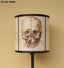 leonardo da vinci skull drum lamp shade lampshade by spooky