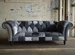 fabric chesterfield sofa modern british and handmade bold ghost patchwork chesterfield sofa