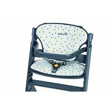 chaise haute safety chaise haute bois timba grise coussin grey patches safety