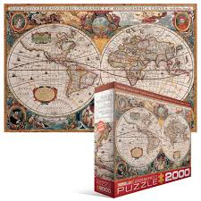 World Map Antique by Amazon Com Eurographics Antique Map Of The World Jigsaw Puzzle