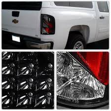 2008 chevy silverado led tail lights chevy silverado 3500hd 2007 2013 led tail lights black a122psll109