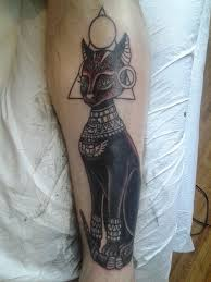 bastet ancient egyptian cat goddess jessie mcnally steady tattoo