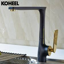 popular black faucets kitchen buy cheap black faucets kitchen lots kitchen faucet black brass hot and cold water tap sink mixer tap wash basin faucet 5