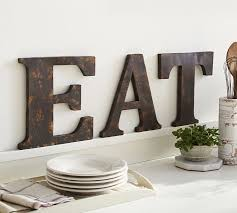 Monogram Letters Home Decor Rustic Metal Letters Pottery Barn