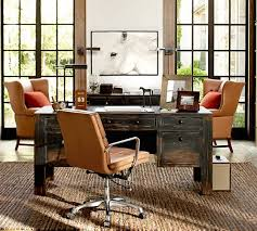Living Room Desk Chair Nash Leather Swivel Desk Chair Pottery Barn