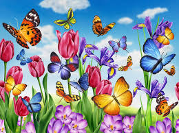 butterfly flowers lori anzalone nature illustration real vases for