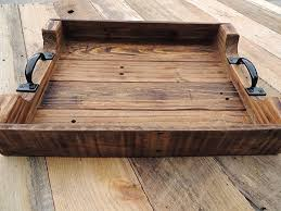 Large Serving Trays For Ottomans Rustic Wood Coffee Table Ottoman Serving Tray Large