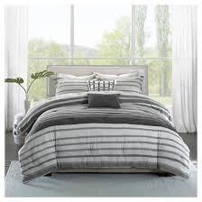 5 Piece Duvet Set Audra Striped Cotton Comforter Set 5 Piece Target