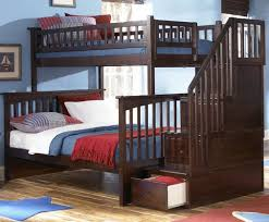 Bunk Bed Stairs With Drawers Bunk Beds Stairs White Hardwood Bunk