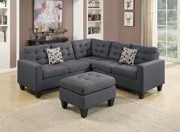 wayfair ifin1022 amazon poundex f6935 grey sectional sofa