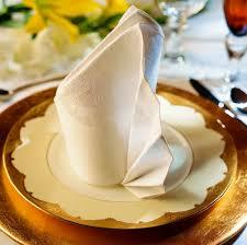 how to fold napkins for a wedding wedding details folded napkin table decor