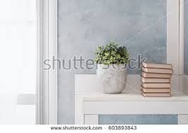Window Sill Curtains Bright Room Interior Curtains White Window Stock Photo 603893885