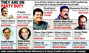Latest Cabinet Ministers Delhi Election 2015 Bjp Assigns Poll Roles To Union Ministers