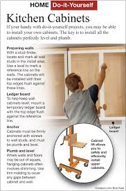 how to install your own cabinets here s how hang your own kitchen cabinets real estate