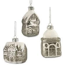 bethany lowe mini mercury glass house ornaments bllg9398