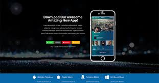 themes for mobile apps app theme automated mobile app landing page for lead generation