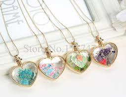 glass bottle necklace pendant images Tdiyj wholesale heart shape locket necklace lucky stars glass jpg