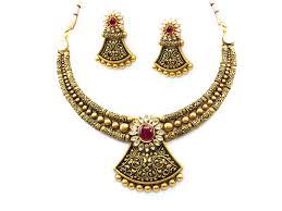 antique necklace set images 85 35g 22kt gold antique necklace set houston texas usa jpg
