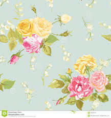seamless floral shabby chic background stock illustration image