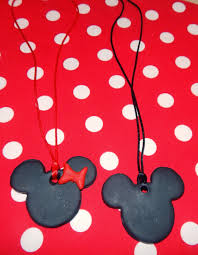 minnie u0026 mickey mouse polymer clay pendants this ole mom