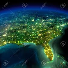 Map Of Usa Cities by City Lights Of The United States 2012 Natural Hazards Rendering
