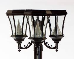 outdoor light post fixtures solar lamp post lights home designs