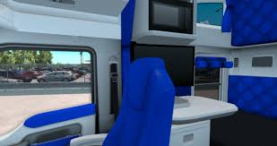 kenworth truck service white and blue interior for kenworth t680 american truck