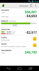 finance app for android mint for android update adds enhanced ui for phones split