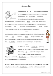 Fun French Worksheets No Frills Worksheet For All Ages Present Simple Vs Present