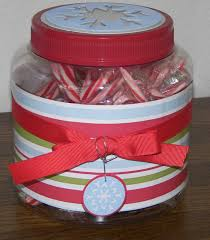 peppermint candy cane jar weeping cherries