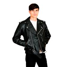 leather biker jacket men u0027s leather biker jacket 65