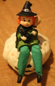 witchcrafters halloween decor shelf sitting witch doll halloween decor cheery bewitching