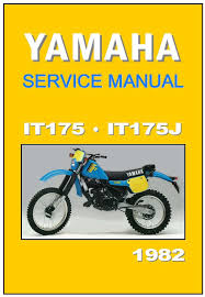 yamaha workshop manual it175 it175j 1982 maintenance service