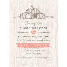 country chic wedding invitations country chic barn standard wedding invitation walmart