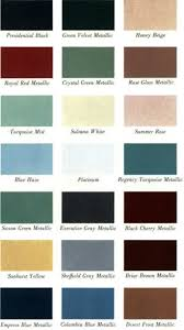 1961 lincoln continental exterior paint finish color chips