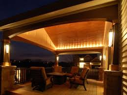 Patio Cover Lighting Ideas by Stunning Covered Patio Lighting Ideas About Home Design Planning