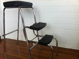 leather polyurethane slat gold set of 718 kitchen step stool chair