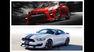 2017 nissan gt r vs 2017 ford mustang shelby gt350 sport car