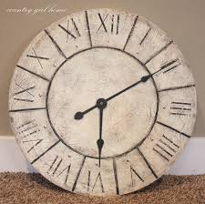 oversized home decor innovative oversize aged rustic wall clock pier imports to