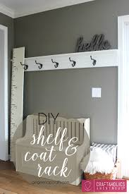 entryway rack diy shelf and coat rack coat racks shelves and organizing