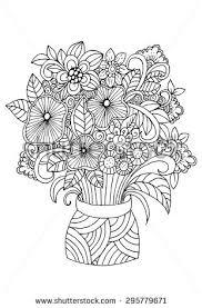 Pencil Sketch Of Flower Vase Vector Hand Draw Illustration Flowers Vase Stock Vector 529623814