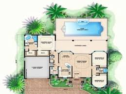 florida house plans with pool one story house plans florida awesome florida style house plans
