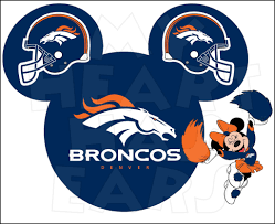 denver broncos football with minnie mouse instant download digital