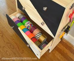 rolling craft cart ikea rast hack at home with the barkers