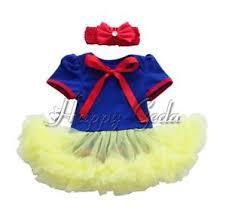 Snow White Halloween Costume Toddler Snow White Princess Romper Headband Halloween Costume Baby Girls