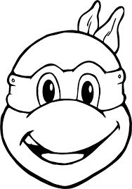 ninja turtle mask coloring page glum me