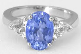 sapphires rings images Ceylon sapphire and trillion white sapphires in a 3 stone ring jpg