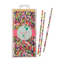 paper straws floral paper straws 30 per pack from ocado