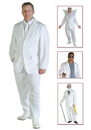 halloween angel wings mens white suit costume